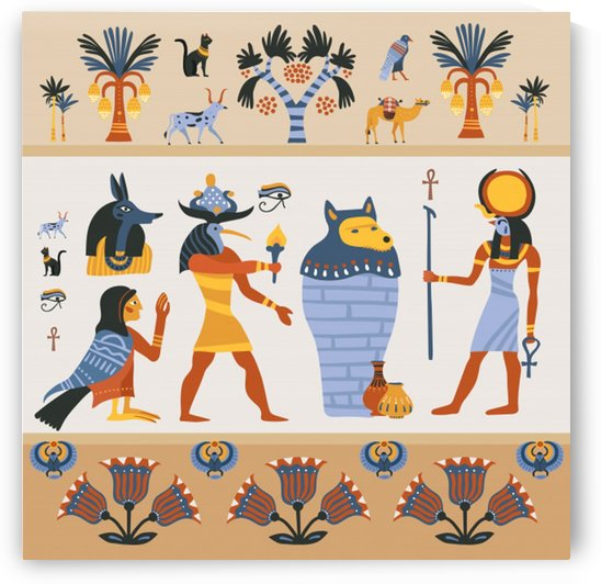 ancient egyptian illustration by Shamudy