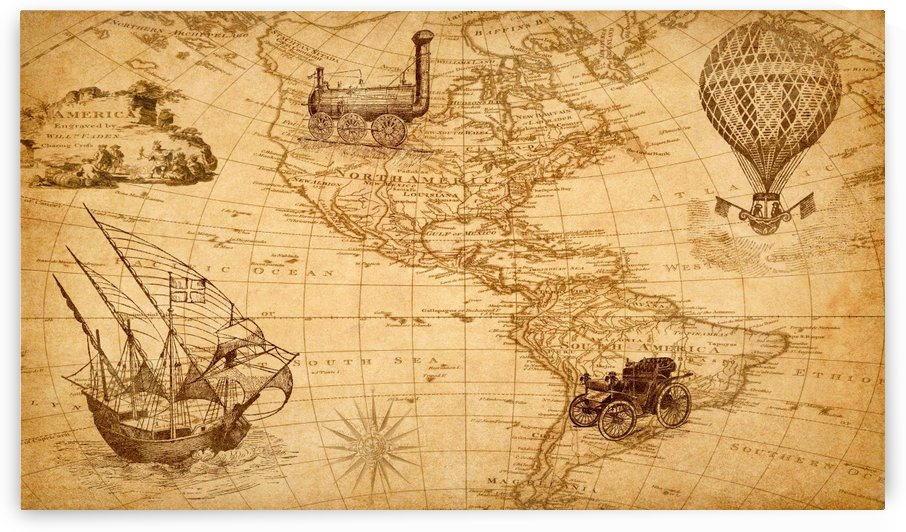 map discovery america ship train by Shamudy
