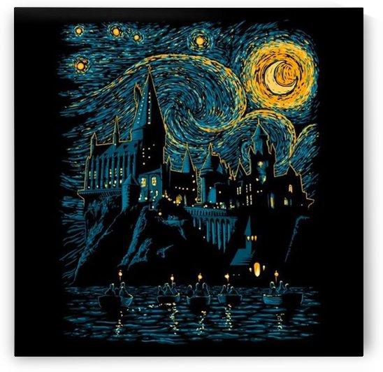 Castle starry night Van Gogh Parody by Shamudy