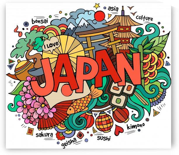 Earthquake and tsunami drawing japan illustration by Shamudy