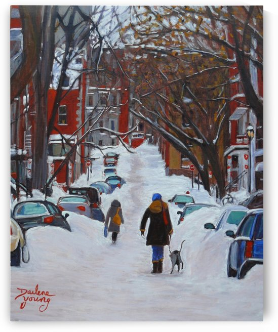Lorn Avenue McGill Ghetto by Darlene Young Canadian Artist