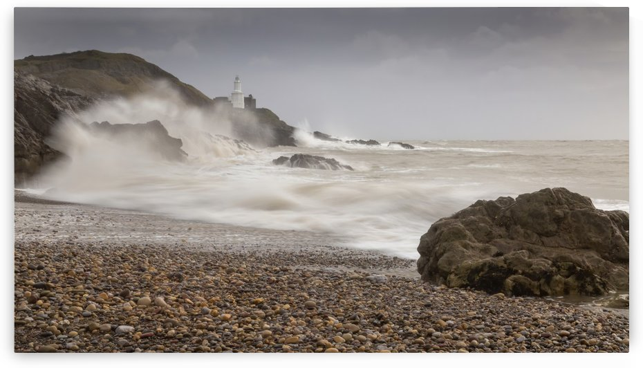 Storm Ciara on Bracelet bay by Leighton Collins