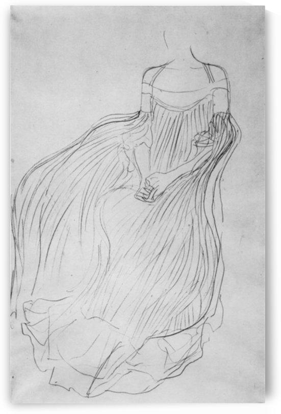 Costume study by Klimt by Klimt