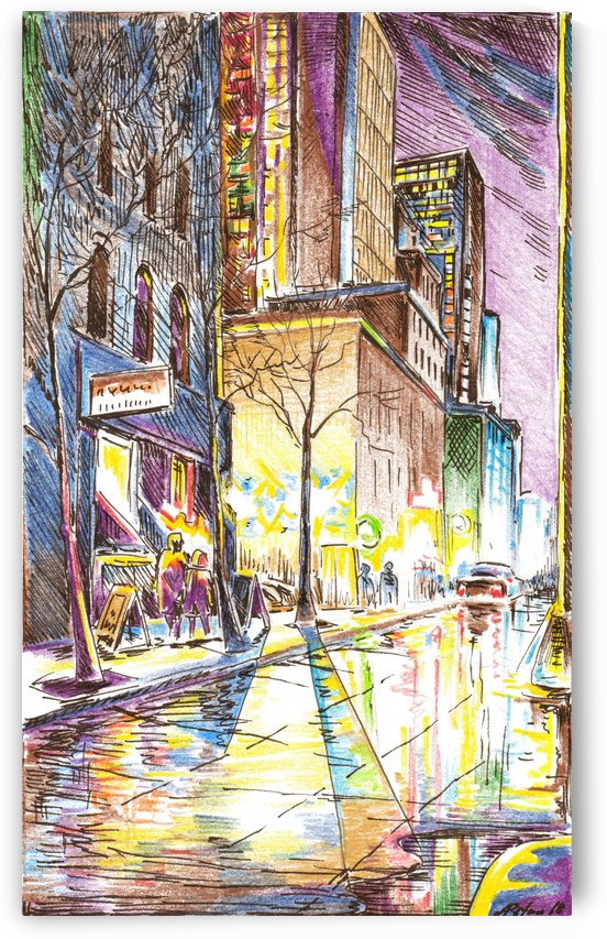 NYC_At_night_City_Scope by Egalitarian Art Gallery