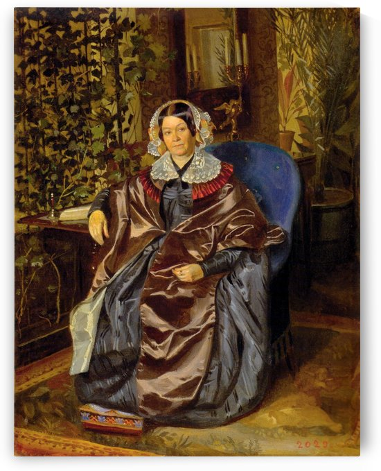 Portrait of Maria Druzhinina, the Writer by Pavel Fedotov
