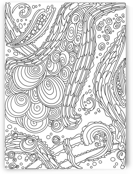 Wandering Abstract Line Art 38: Black & White by Dream Ripple