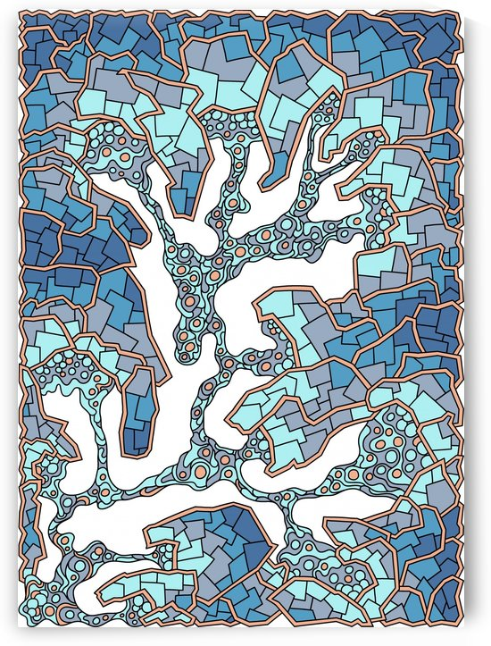 Wandering Abstract Line Art 40: Blue by Dream Ripple