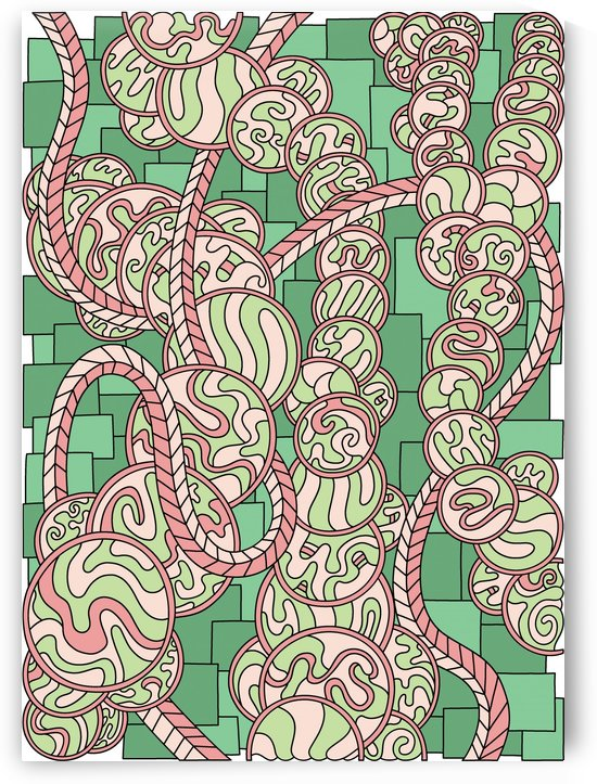 Wandering Abstract Line Art 43: Green by Dream Ripple