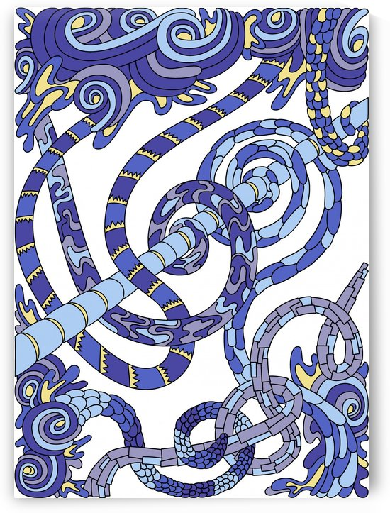 Wandering Abstract Line Art 46: Blue by Dream Ripple