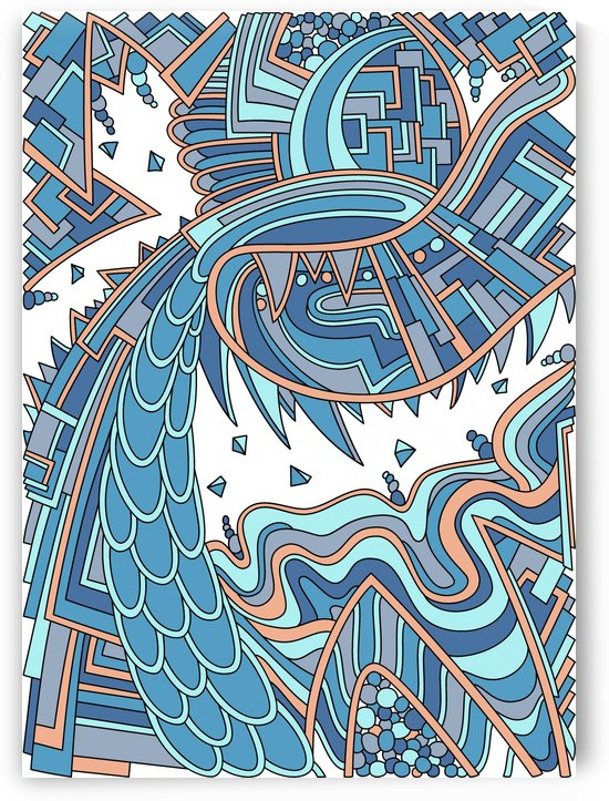 Wandering Abstract Line Art 49: Blue by Dream Ripple
