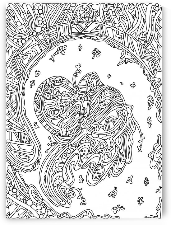 Wandering Abstract Line Art 50: Black & White by Dream Ripple