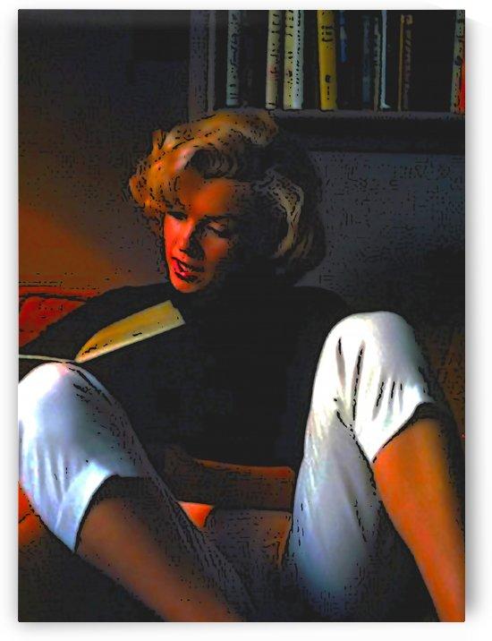 Marilyn Reading Oil by W Scott