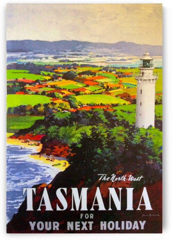Vintage Travel - Tasmania by Culturio