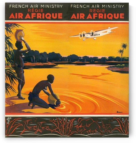 Vintage Travel - Air Afrique by Culturio