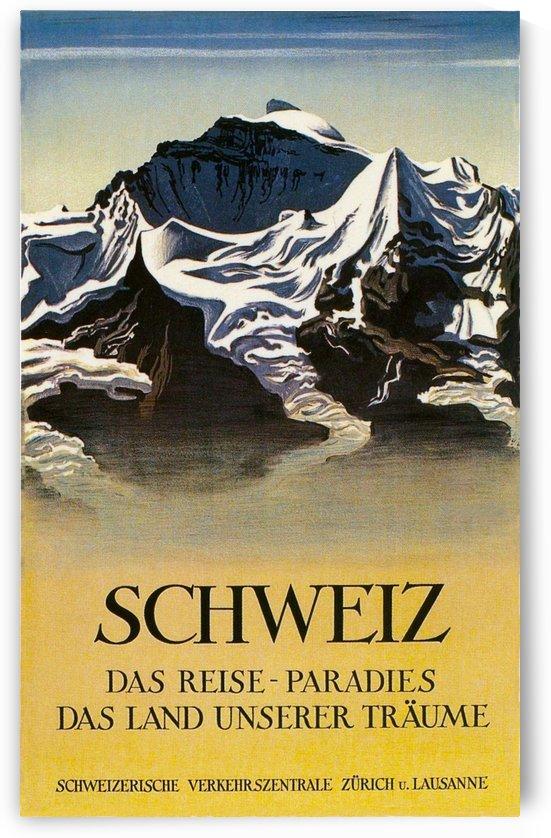 Switzerland Schweiz - Vintage Travel  by Culturio