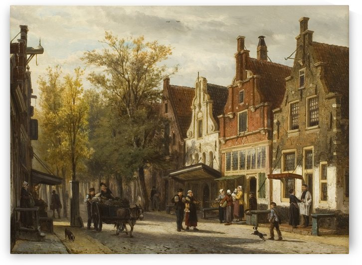View of the Westerstraat by Cornelis Springer