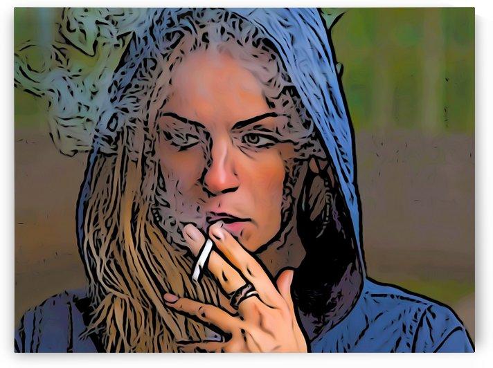 Woman Smoking by W Scott