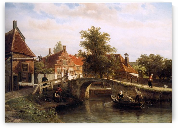 Along The Canal by Cornelis Springer