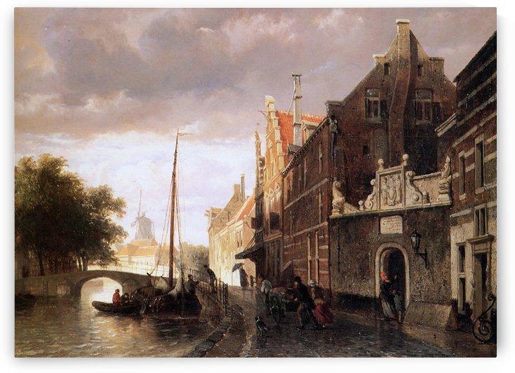 Weeshuis in Kampen Sun by Cornelis Springer