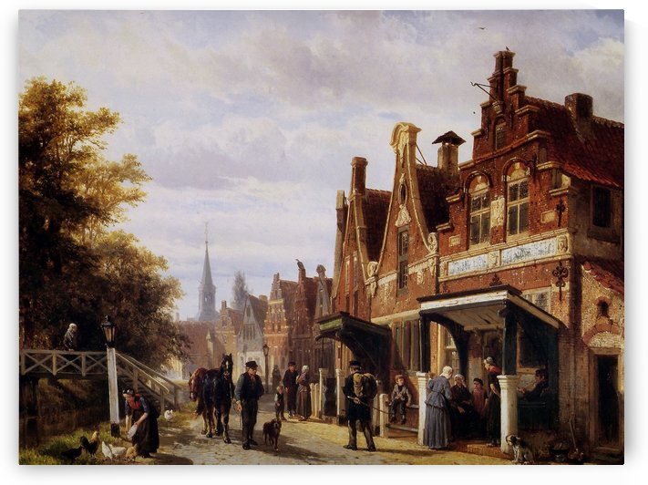 Village view by Cornelis Springer