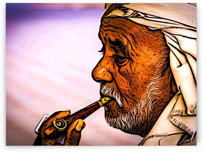 Smoking Elder by W Scott