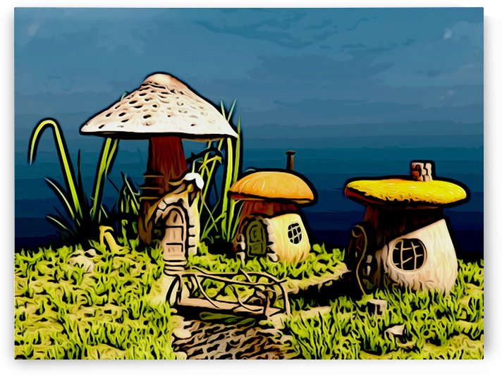 Mushroom Home by W Scott