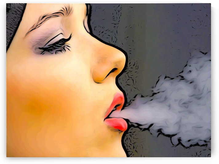 Smoking Girl by W Scott