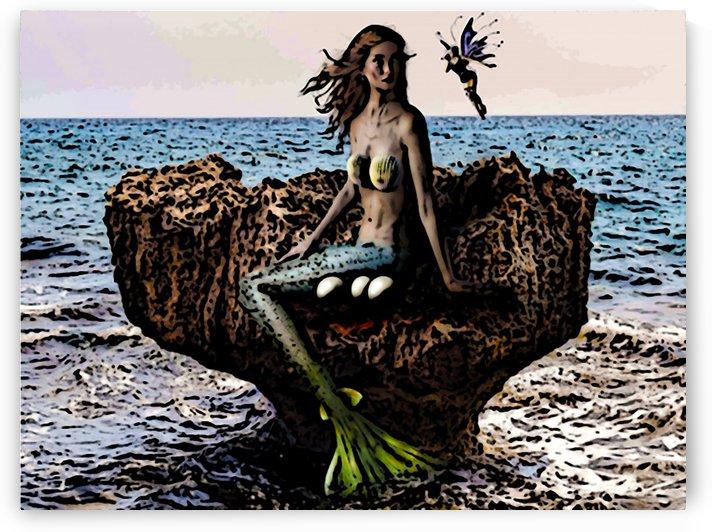 Mermaid and Fairy by W Scott