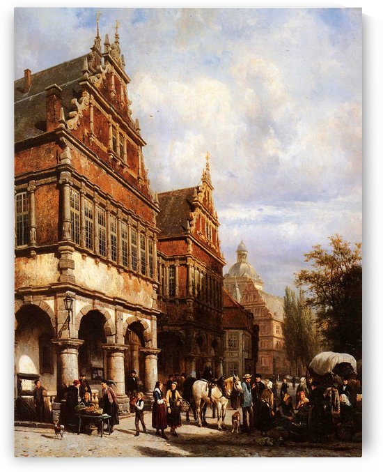 Cityhall Paderborn Sun by Cornelis Springer