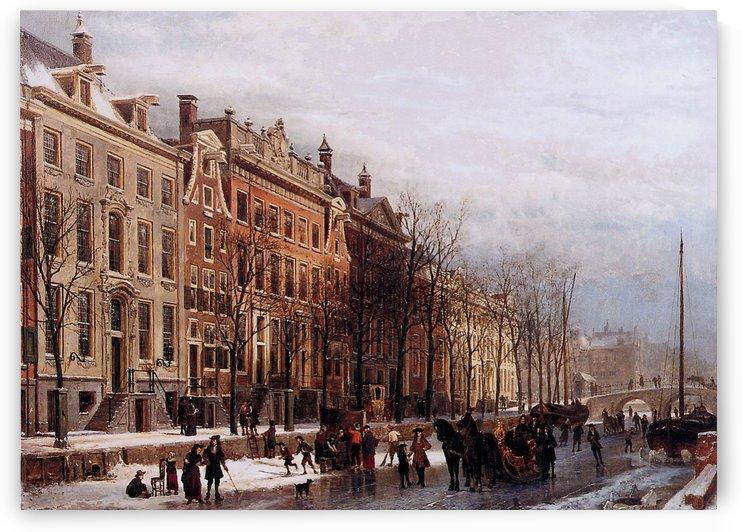The Herengracht aan de Amstel by Cornelis Springer