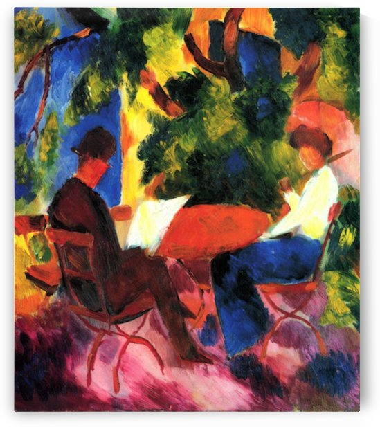 Couple at the garden table by Macke by Macke
