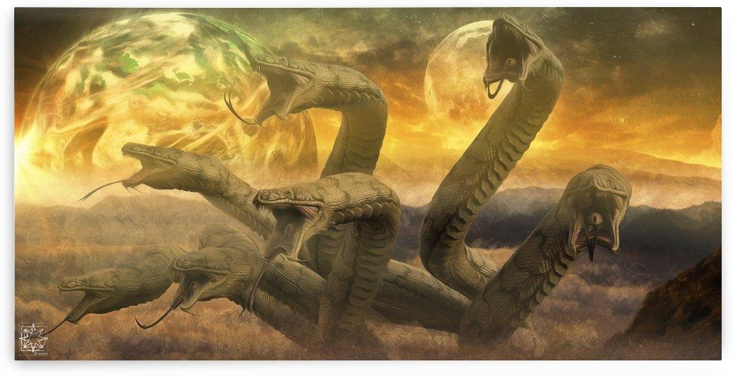 Jǫrmungandr or the Midgard Serpent by ChrisHarrisArt