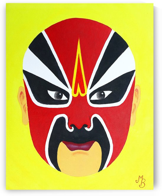 Zhuan Zhu - Chinese Opera Mask by Birgit Moldenhauer