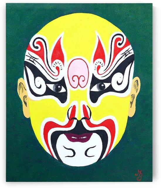 Dian Wei - Chinese Opera Mask by Birgit Moldenhauer