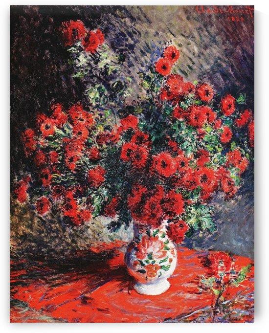 Red Chrysanthemum Flowers_OSG by One Simple Gallery