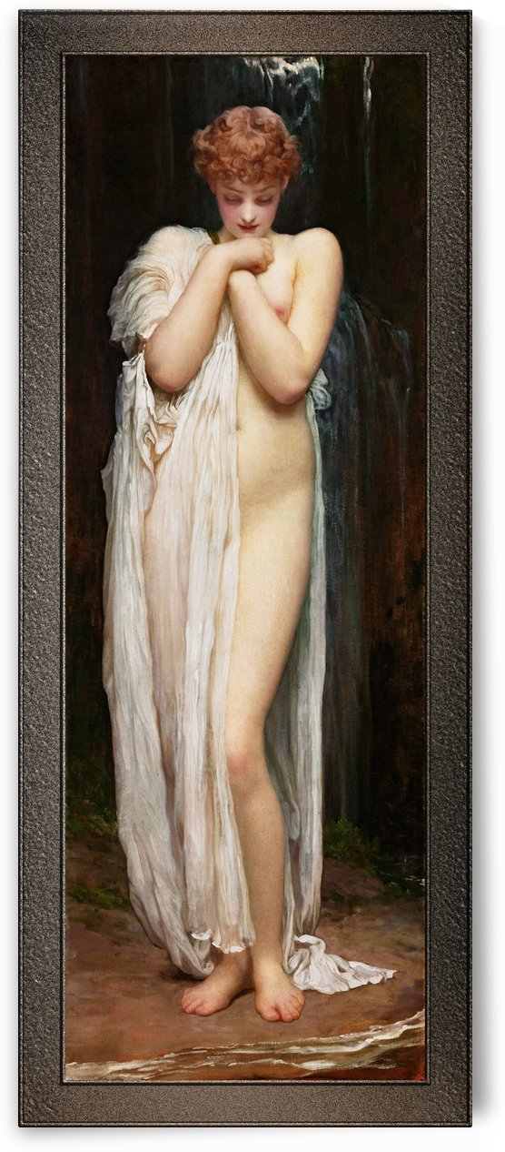 Crenaia The Nymph Of The Dargle by Frederic Leighton Old Masters Fine Art Reproduction by xzendor7