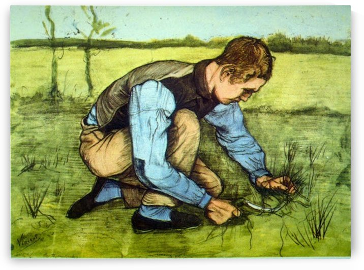 Cutting Grass by Van Gogh by Van Gogh