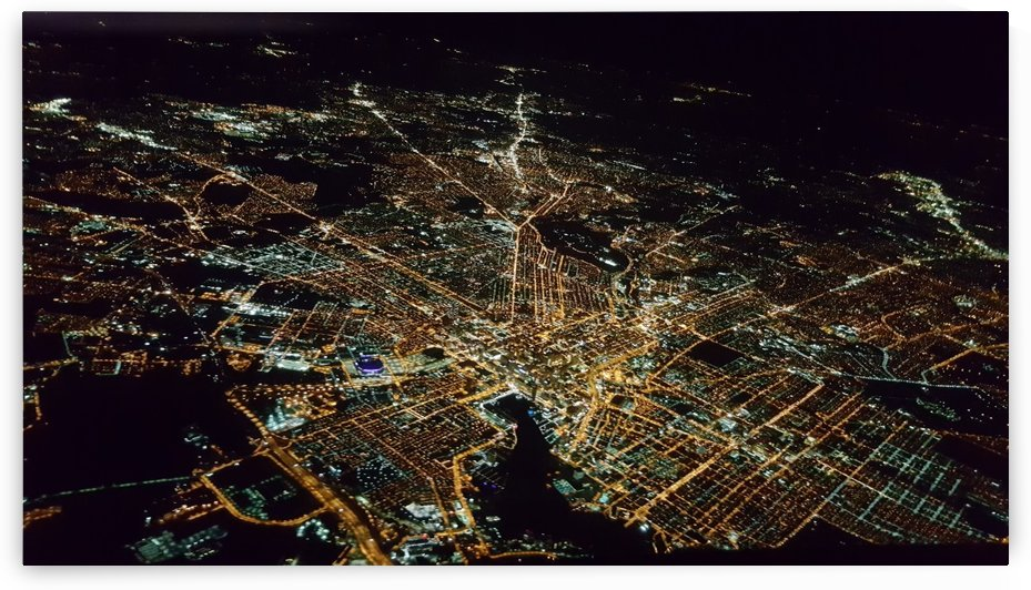 Baltimore city at night by Michael Geyer