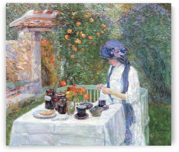 The Terre-Cuits Tea Set by Hassam by Hassam