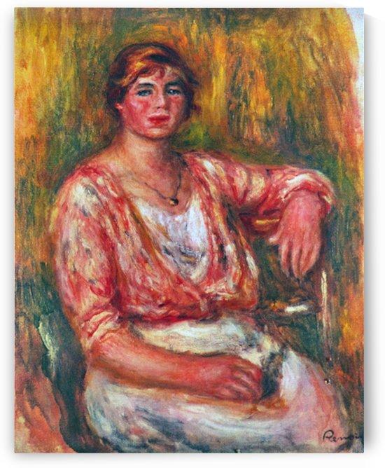 Dairymaid by Renoir by Renoir