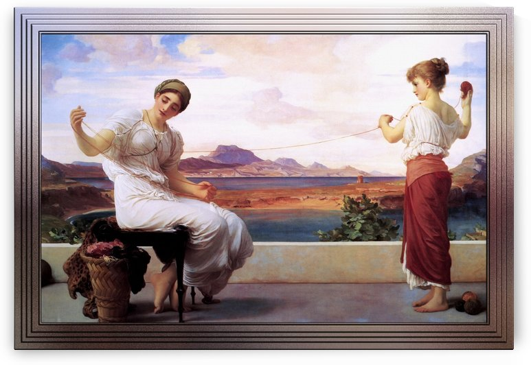 Winding The Skein by Frederic Leighton by xzendor7