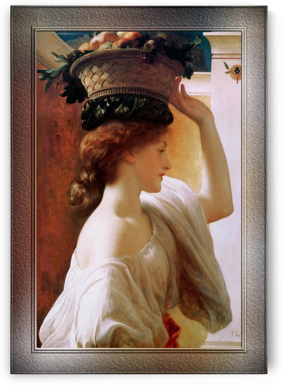 A Girl With A Basket Of Fruit by Lord Frederic Leighton by xzendor7