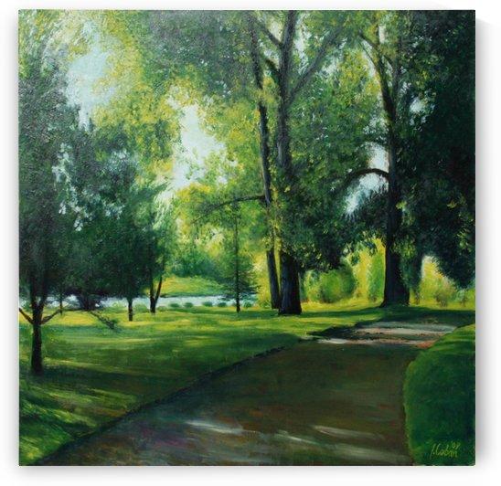Arboretum at canal by Joseph Coban
