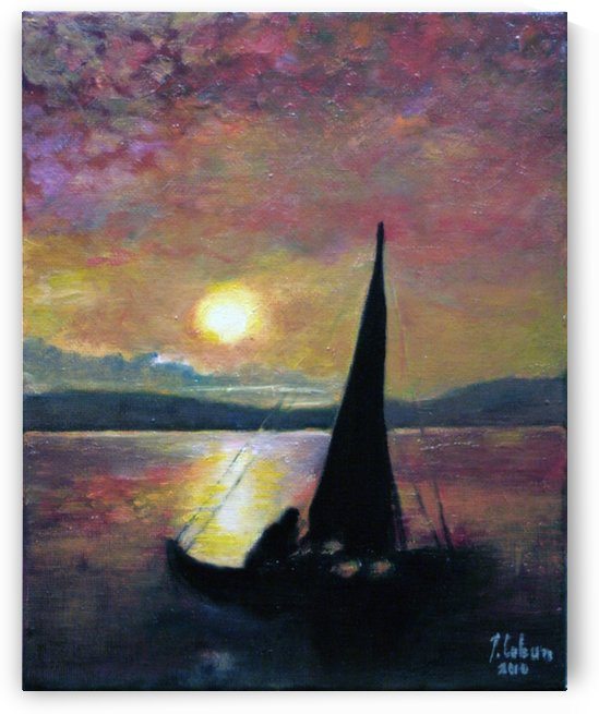 Sunst at lake by Joseph Coban