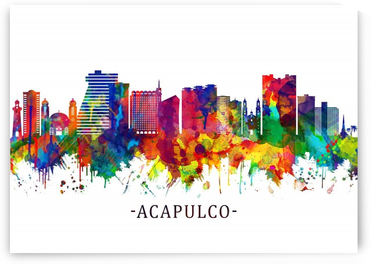 Acapulco Mexico Skyline by Towseef Dar