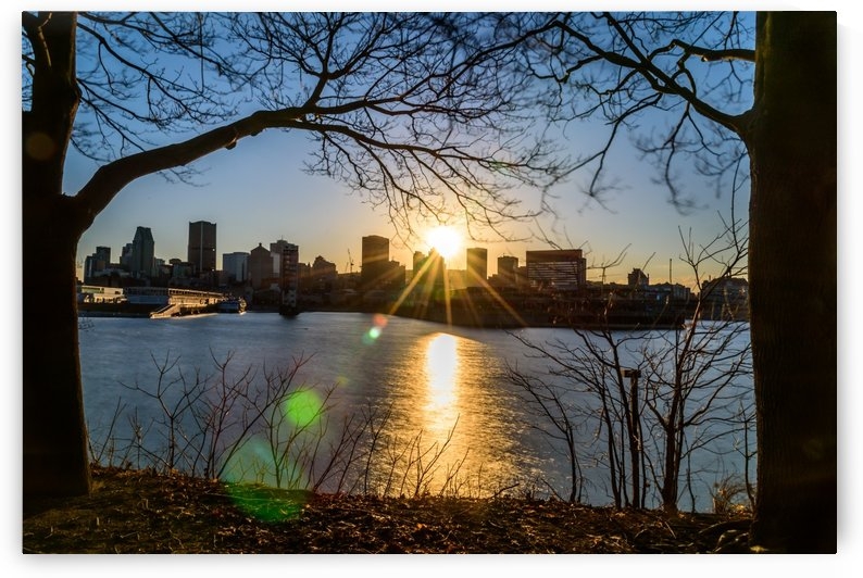 Sunset over Downtown Montreal by RezieMart
