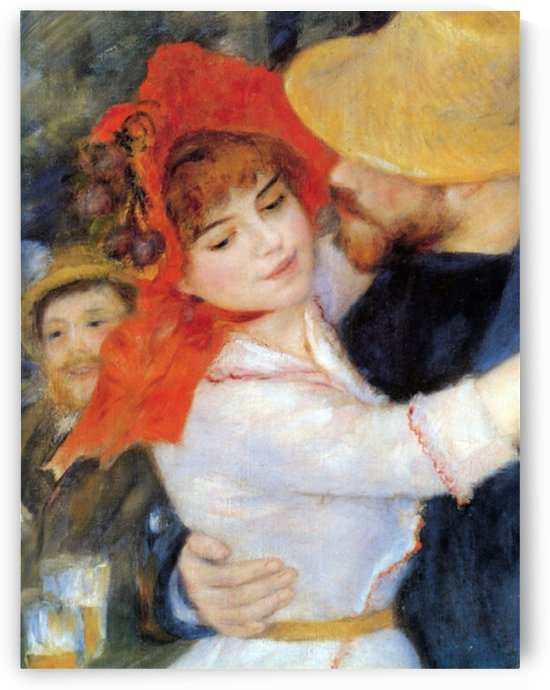 Dance in Bougival (Detail) by Renoir by Renoir