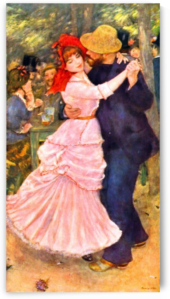 Dance in Bougival by Renoir by Renoir