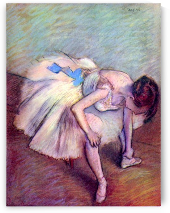 Dancer bent over by Degas by Degas