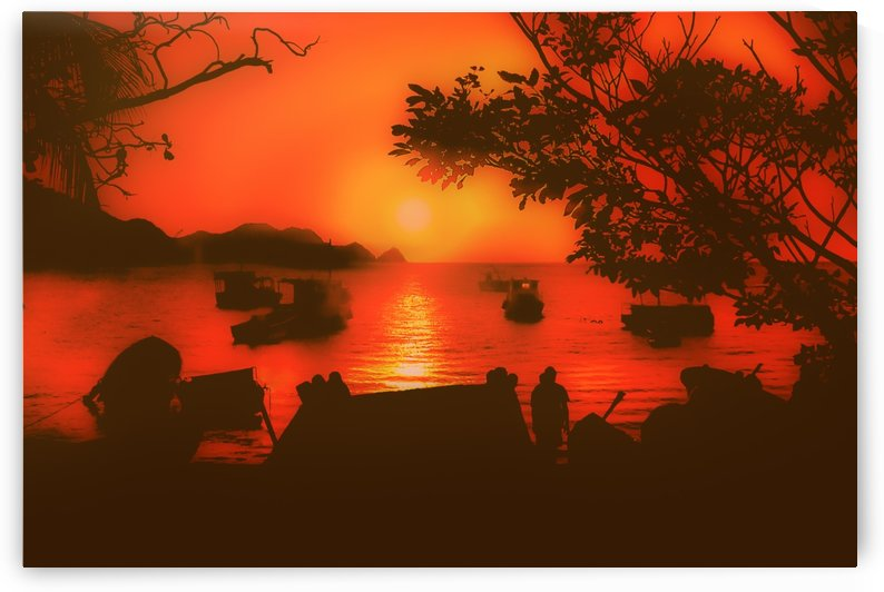 Sunset at Caribbean Bay of Taganga Colombia by Daniel Ferreia Leites Ciccarino
